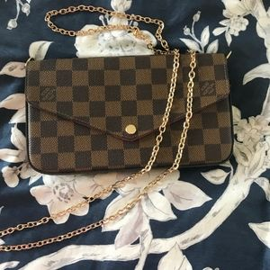 Louis Vuitton Felicie Pochette Damier Crossbody
